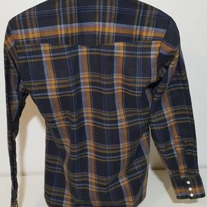 Cable Car Clothiers Shirts - Cable Car VTG 70s Pearl Snap Flannel Shirt M 15